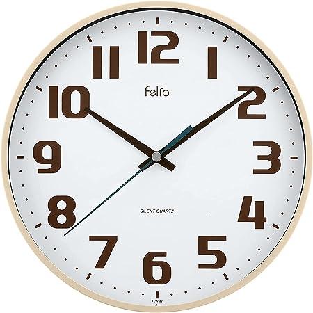 Felio(フェリオ) 掛け時計 アナログ チュロス 静音 連続秒針 アイボリー FEW182IV-Z
