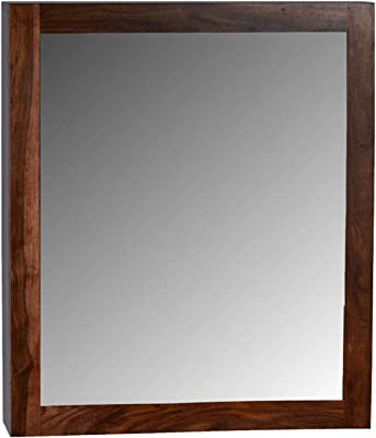 WOODDEKOR Aura Storage Mirror in Brown Finish…