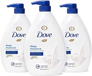 Dove Body Wash with Pump with Skin Natural Nourishers for Instantly Soft Skin and Lasting Nourishment Deep Moisture Cleans...