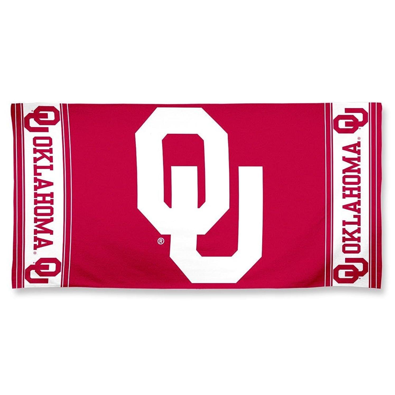 比喩協力地球NCAA Oklahoma Sooners Fiber Reactiveビーチタオル