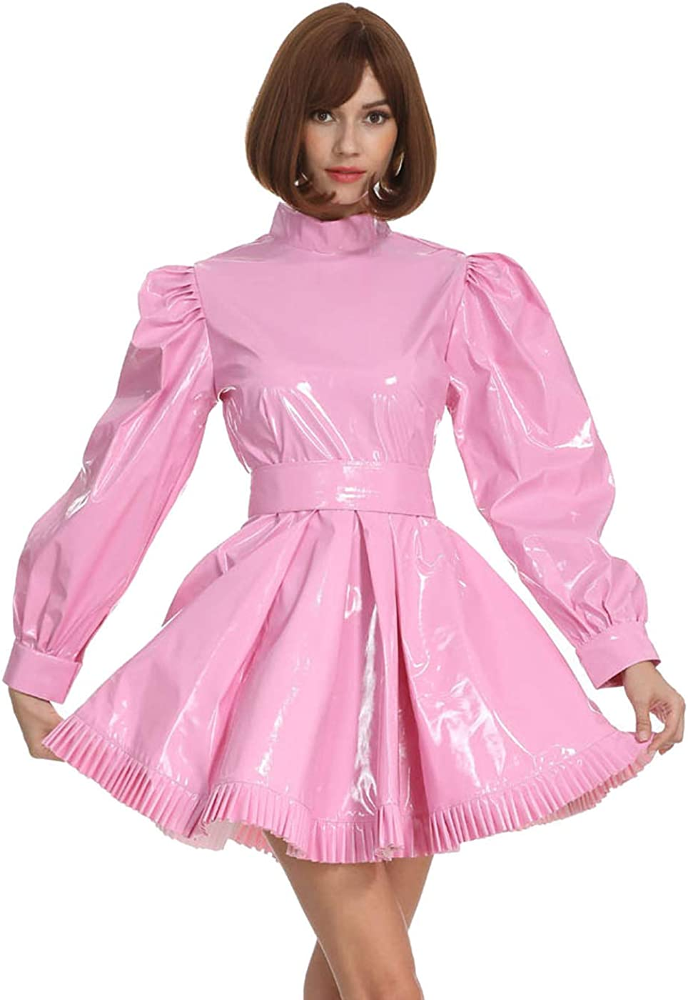 Discount mail order GOceBaby Women Sissy French Maid Lockab Sleeves High Collar Long Super sale period limited