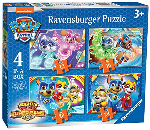 Ravensburger Kinderpuzzle 03029 Paw Patrol: 4 Puzzles in a box-12/16/20/24 Teile