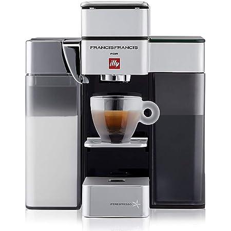 schwarz illy FrancisFrancis Y5 Milk Iperespresso Kapselmaschine Espresso+Coffee