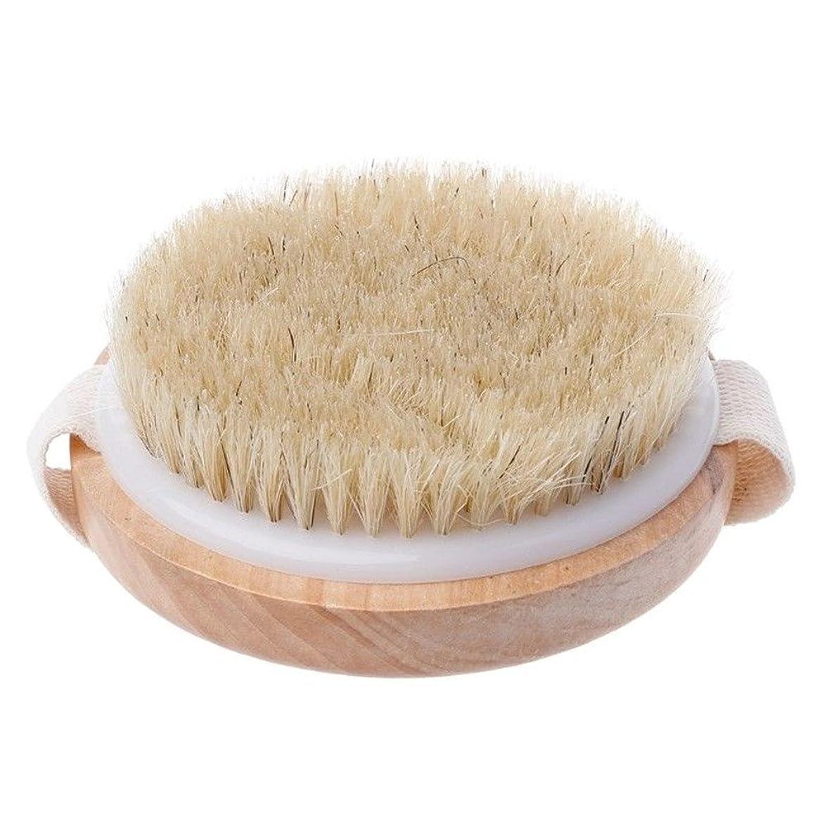 受ける優しさあえてEnipate ボディブラシ 豚毛 全身 マッサージ 木製 ボディケア バスグッズ 天然素材 血行促進 角質除去