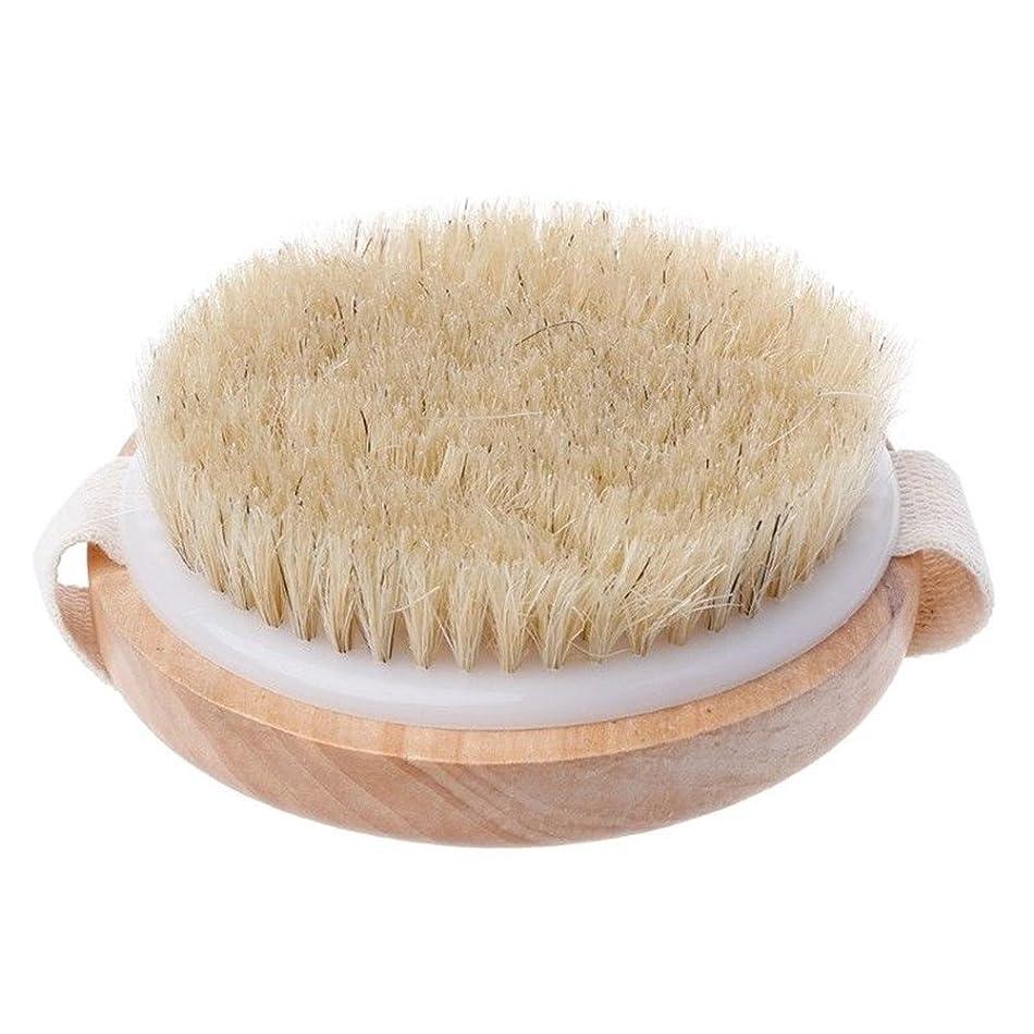 老人モンク値Enipate ボディブラシ 豚毛 全身 マッサージ 木製 ボディケア バスグッズ 天然素材 血行促進 角質除去