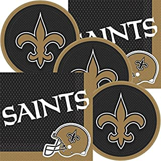 New Orleans Saints NFL Football Team Logo Plates And Napkins Serves 16