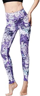Yoga Pants Ladies Sports High Waist Trousers Printed Quick Dry Stretch Tight Fitness Running Gym Sports Training Leggings ...