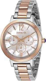 Invicta Women's Angel Quartz Watch with Stainless Steel Strap, Two Tone, 16 (Model: 31087)