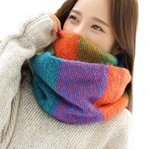 OVERDOSE Rundschal, Mode Frauen Warm Knit Hals Kreis Cowl Snood mehrzweck Schal O-Ring Schal Deckenschal Halstuch