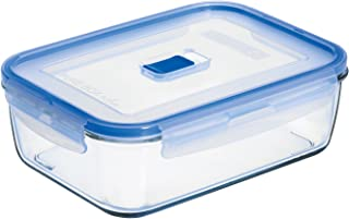 Arc International Luminarc 8.3-Cup Rectangle Pure Box Container with Lid, 9.2 by 6.7 by 2.8-Inch