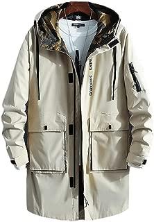 Men's JacketOutdoor Zipper Slim Breathable Windbreaker Wild Hooded Jacket Casual Thin Business Men's Jacket (Color : Khaki, Size : XXL)