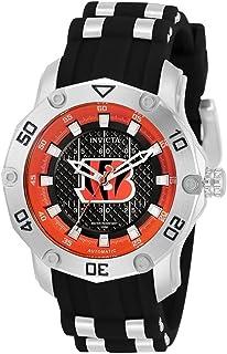 Invicta NFL Cincinnati Bengals Automatic Orange and Black Dial Ladies Watch 33055
