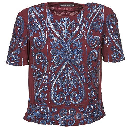 Antik Batik NIAOULI Tops/Blusen Femmes Bordeaux - DE 36 (EU 38) - Tops/Blusen