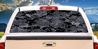 SignMission Digital CAMO Rear Window Graphic Truck View Thru Vinyl Decal Back, 22