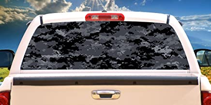 SignMission Digital CAMO Rear Window Graphic Truck View Thru Vinyl Decal Back, 22