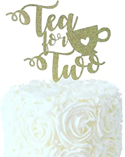 Tea for Two Cake Topper Tea Party Birthday Party Decor Princess ParTea Party Decorations Kids Birthday Decor Tea Birthday
