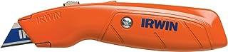 IRWIN Hi-Vis Retractable Utility Knife, 2082300, Orange