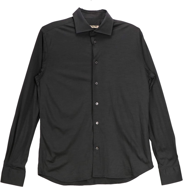 Maurizio Baldassari Men's Longsleeved Suntory Jersey Shirt Casual Button-Down