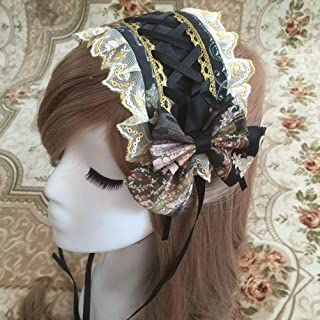 Smiling Angel Gothic Lolita COS Maid Castle Elf Cascading Lace Hair Accessories Hair Bands