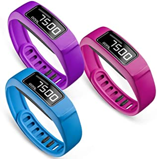 SKYLET Compatible with Garmin Vivofit 2 Bands, Soft Silicone Bands for Vivofit 2 Wristband Bracelet with Buckle Small Larg...