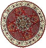 Nain Trading Indo Täbriz 200x200 Orientteppich Teppich Rund Dunkelbraun/Rost Handgeknüpft Indien