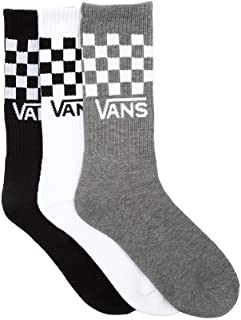 | Classic Check Crew-Socks, 3-Pair Pack, Assorted, Large...