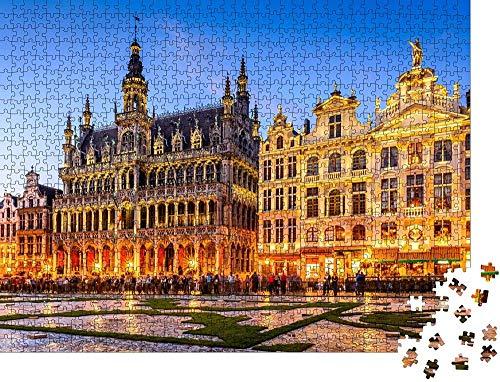 Clásico Puzzle Decoración Bruselas, Bélgica - Puzzle clásico Wooden Jigsaw Puzzles Classic Rompecabezas de Juguete-300 piezas