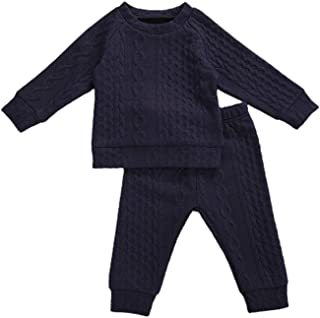 Toddler Baby Girls Boys Twist Knit Sweater Shirt Top and...