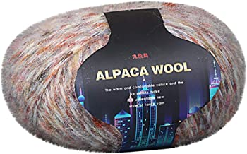 Fan-Ling 1PCS Colorful Alpaca Wool Hand-Knitted Coat Sweater Scarf Line in The Thick Wool,Assorted Colors Smooth DIY Hand Knitting Baby Craft Shawl Scarf Crochet Thread Supplies,50G (G)