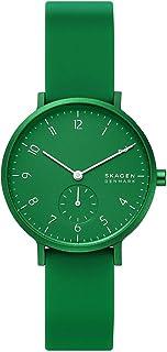 Skagen Aaren Women's Green Dial Silicone Analog Watch - SKW2804