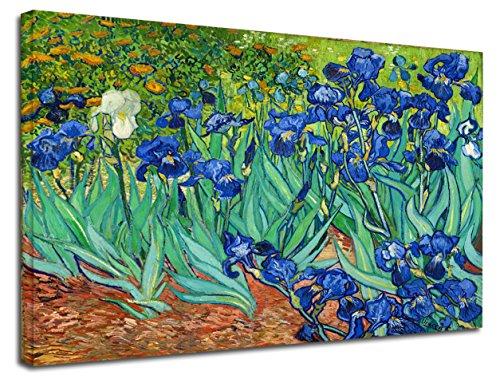 Cuadro de Van Gogh «Lirios», diseño de flores - Cuadro impreso en lienzo con o sin marco - Distintas dimensiones entre 50 y 130 cm de ancho
