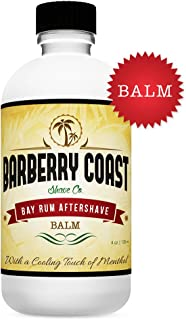BAY RUM Aftershave Balm - Post Shave Face & Body Lotion - All-Natural Ingredients with Vitamin E, Shea Butter & Cooling Menthol - No Harmful Chemicals - Made in the USA