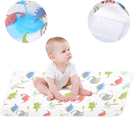 Baby Changing Pad,  Waterproof Diaper Incontinence Bed Pads Portable Bed Wetting Pads Washable Non-Slip Cover Travel Changing Mats Sheet Protector for Infants,  Children,  Adults and Pets(20 x 28in)