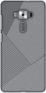 AMZER Designer Slim Snap on Case with Screen Care Kit for Asus ZenFone 3 Deluxe ZS570KL - Carbon Fibre Redux Stone Gray 1