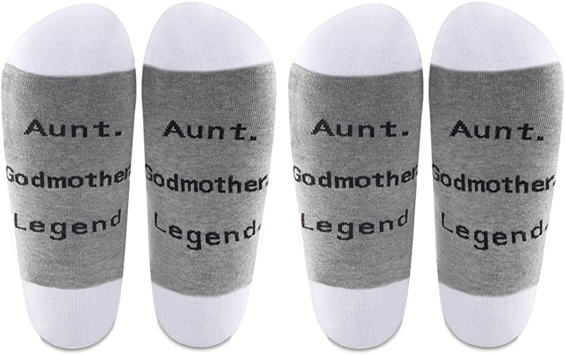 AATOP Medias de la tía de la madrina, regalos de la tía de la madrina, la leyenda del ahijado bautizo regalo