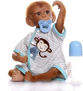 iCradle Reborn Muñecos Bebe Reborn Niña Mono Bebé 18