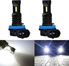 KATUR H8 H11 H9 Led Fog Light Bulb Extremely Bright 1600 Lumens Max 80W High Power CSP Chips 6500K Xenon White Replace for Fog Light or Daytime Running Light DRL - 3 Year Warranty