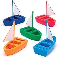 Baker Ross- Kits de veleros de plástico para diseñar (Pack de 5) Suministros de artesanía para niños pequeños, regalitos para fiestas y actividades.