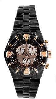 Roberto Cavalli - Diamond Time' 7253616045 - Reloj de Caballero de Cuarzo, Correa de Acero Inoxidable Color Negro