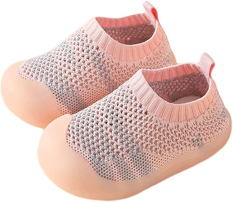 WXYPP Summer Breathable Baby Toddler Shoes Baby Shoes Non-Slip Soft Sole Mesh Shoes Mesh Breathable Sandals Outdoor (Color : Pink, Size : 12.0 cm)