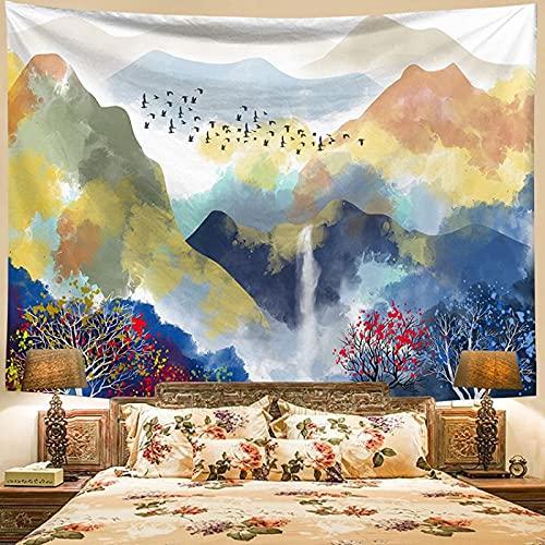 Tapiz De Tapices para La Sala De Estar Dormitorio Paisaje Gran montaña Puesta de Sol decoración del hogar