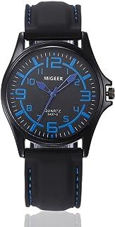 Nikuya Men Quartz Hours Wrist Analog Watch Fashion Silicone strap Sport Cool Watch (Blue)