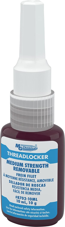 MG Chemicals Medium Strength Threadlocker 10 Omaha Mall Adhesive Year-end gift Removable