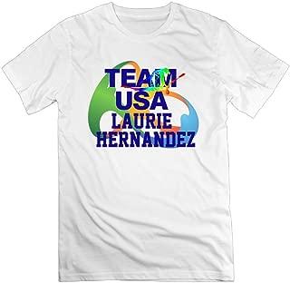 Men's I Love Laurie Hernandez USA Gymnastics 100% Cotton O Neck T-Shirt