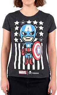 Tokidoki Marvel Captain 2016 Juniors Heather Grey T-Shirt Tee