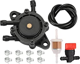 Savior 691034 692313 Fuel Pump with Fuel Line Filter for Briggs and Stratton 808656 491922 Kohler 24 393 04-S 24 393 16-S Honda 16700-Z0J-003 John Deere LG808656 M145667 Kawasaki 49040-7001 Engine