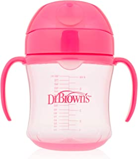 Dr. Brown's Soft Spout Toddler Cup with Handles, Pink, DRB-TC61003
