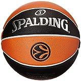 Spalding Euroleague Tf1000 Legacy Sz. 7 74-538Z Balón de Baloncesto, Unisex, Naranja/Negro, 7