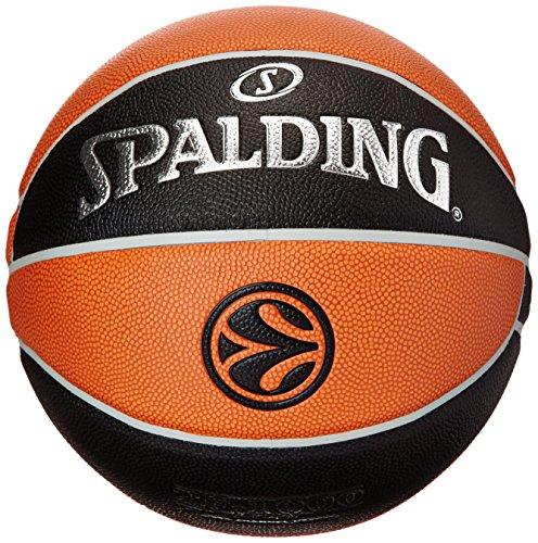 Spalding Euroleague Tf1000 Legacy Sz. 7 74-538Z Balón de Baloncesto, Unisex, Naranja/Negro
