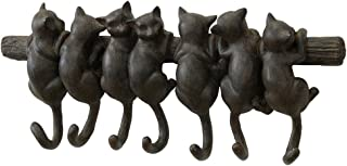 Time Concept Polyresin Liberty Cat Wall Seven Kittens - Antique Style Finish, Home Décor
